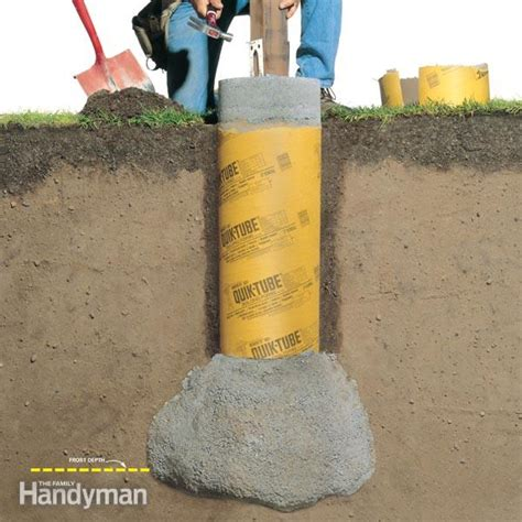 post with cement footing carpentry how to build a solid proof deck footing the