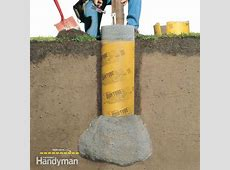 How to Build a Solid, Frost-Proof Deck Footing   The ... Vinyl Fence Post Anchors To Concrete