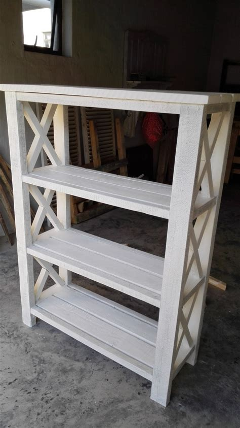 ana white rustic  bookshelf diy projects