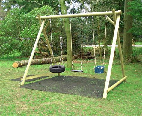 swings garden triple swing frame wooden garden products from caledonia