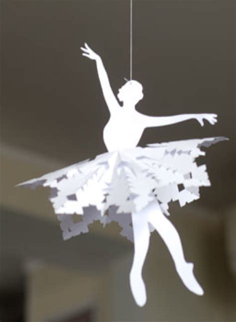 7 best images of ballerina snowflake templates printable