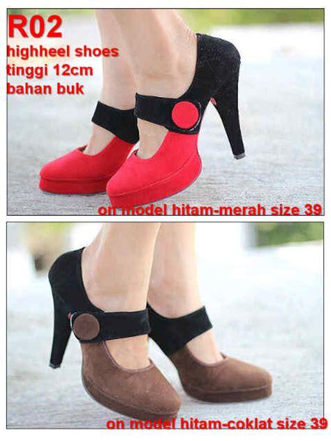 Sepatu Drag Hitam Merah jual reseller welcome tas sepatu wanita dll