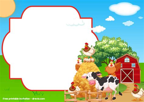 Free Farm Barnyard Invitation Templates Free Invitation Templates Drevio Farm Invitation Template