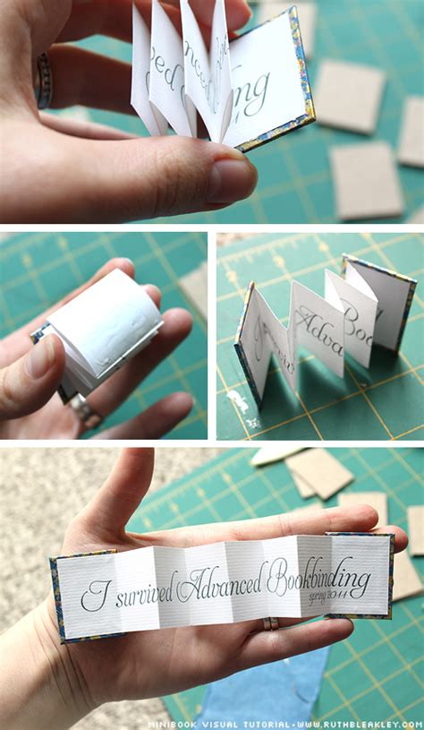 How To Make Mini Books Out Of Paper - easy diy mini accordion book photo tutorial ruth