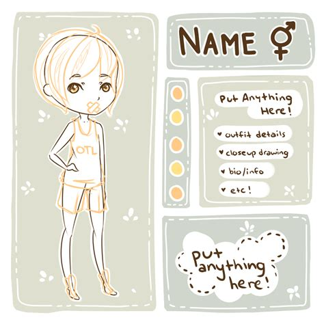 Base Template p2u character ref template base by milkcosmos on