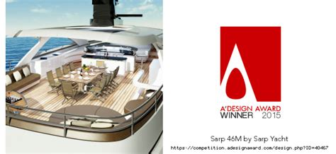yacht design competition 2015 a design award 2015 for sarp 46m yacht yacht charter