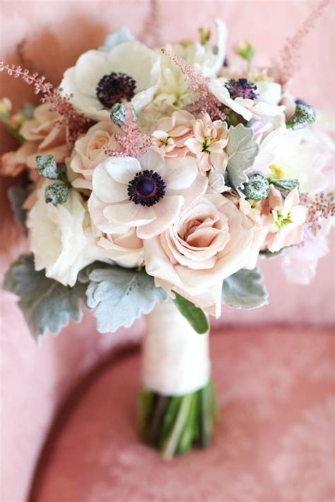 wedding bouquets  elegant colors modwedding