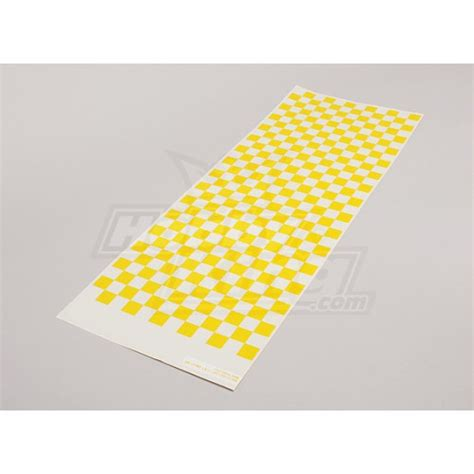 Pattern Clear Yellow | decal sheet small chequer pattern yellow clear 590mmx180mm