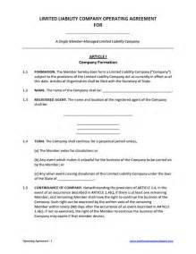 operating agreement template free llc operating agreement template vnzgames