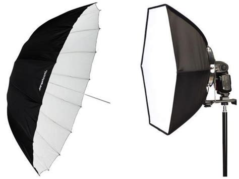 softbox light vs umbrella softboxes vs umbrellas how to win both in our gear