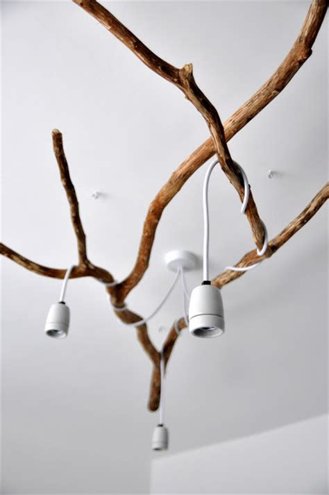 nature chandelier nature inspired diy tree branch chandelier shelterness