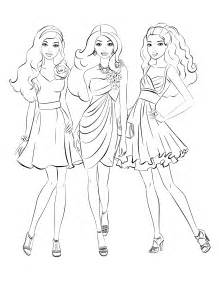 Barbie Coloring Pages  Free Printable sketch template