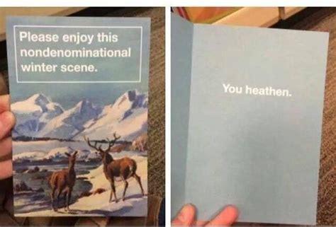 nondenominational christmas card  poke