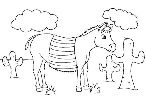 mexican donkey coloring page mexican donkey outline coloring pages color luna