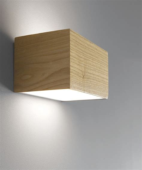 ledlux nord led up cube wall bracket in teak energy