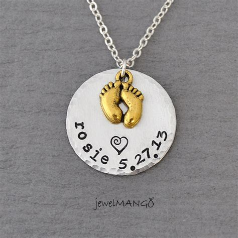 keepsake baby name birth necklace sted baby