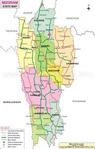 state map images mizoram district map district map of mizoram
