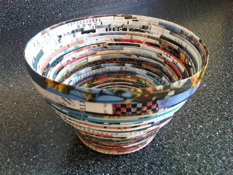 How To Make Paper Bowls From Magazines - paper coiling bowl magazine bowls bowls