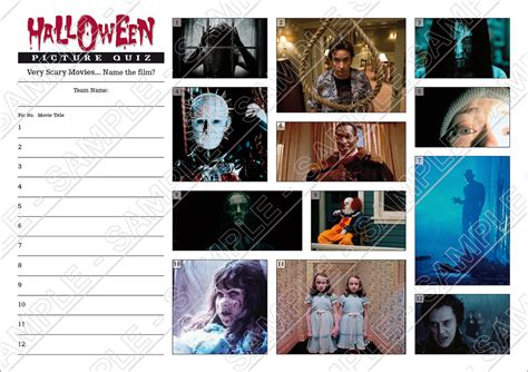 film quiz 2 of a kind halloween quiz with witches or scary movies picture rounds