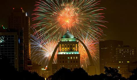 st louis mo fireworks the best cities to view fourth of july fireworks