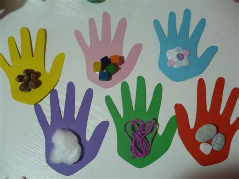 kindergarten craft sense of touch handprint craft preschool crafts for