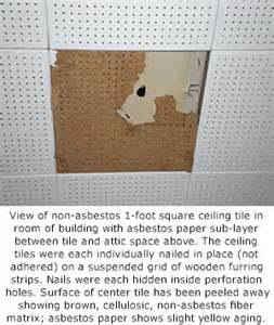 Asbestos Poisoning Research Paper by How To Tell If Ceiling Tiles Contain Asbestos