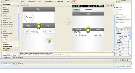 xml layout design for android device having different android layout design looking good only in graphical