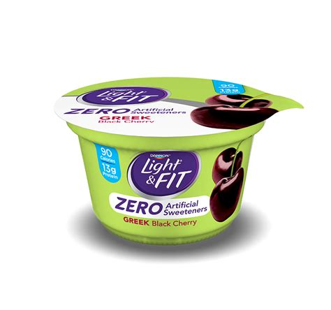 dannon light and fit carb and sugar control greek yogurt zero artificial sweeteners light fit 174