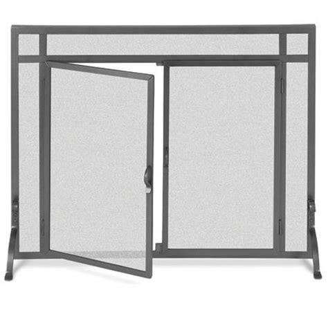 Fireplace Screen Door by Flat Fireplace Screen With Doors 2 Size Options