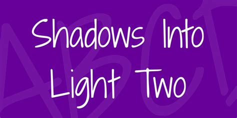 Shadows Into Light Font by Shadows Into Light Two Font 183 1001 Fonts