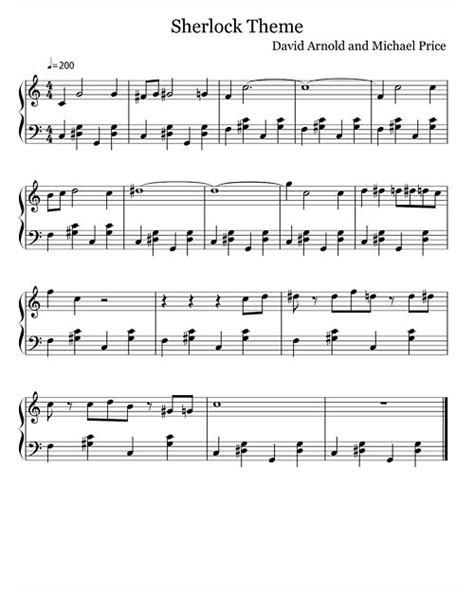 theme music piano bbc sherlock s theme sheet music sherlock pinterest