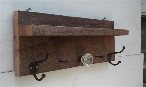 Door Knob Coat Rack by Antique Coat Rack Made With Barnwood Glass Door Knob And