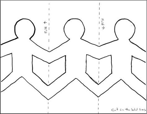 How To Make String Of Paper Dolls - paper dolls holding template search clw