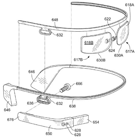 design of google glass google glass patent shows more fashionable designs