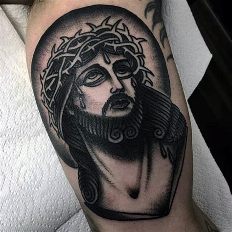 traditional jesus tattoo 60 jesus arm designs for religious ink ideas