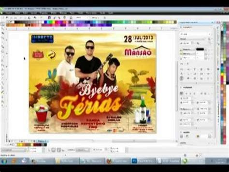flyer design with corel draw flyer byebye f 233 rias corel draw x6 highspeed youtube