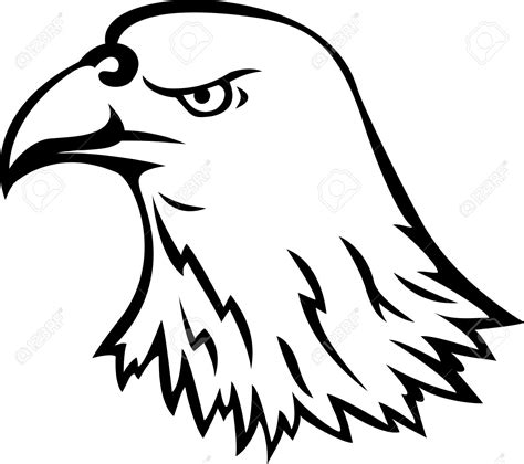 tribal eagle head tattoo tribal eagle clipart 65