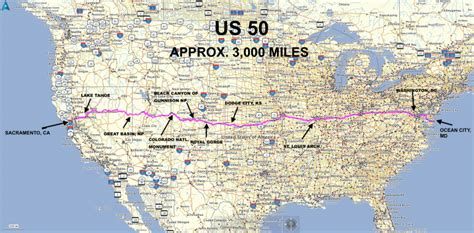Most Populated State In Usa by Roadrunner S Bucket List Roads Coast To Coast On Us 50