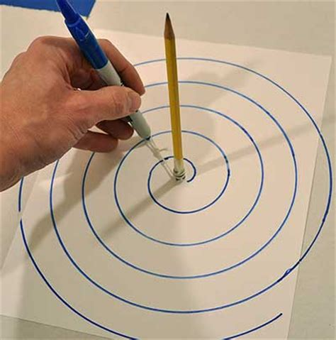 how to use a spiral doodle how to draw an archimedean spiral