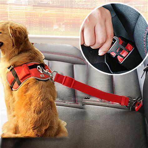 canine car seat belts pet car safety seat belt adjustable clip lead leash