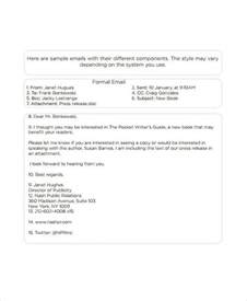 formal email template 5 formal email exles sles
