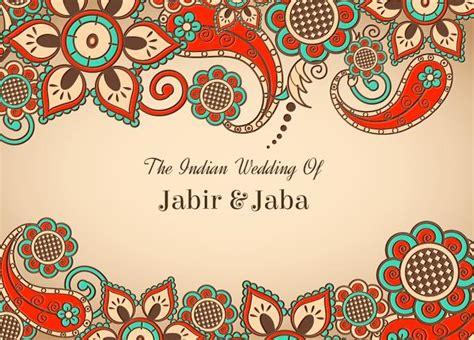 indian wedding card templates vector vector colorful indian wedding card free vector