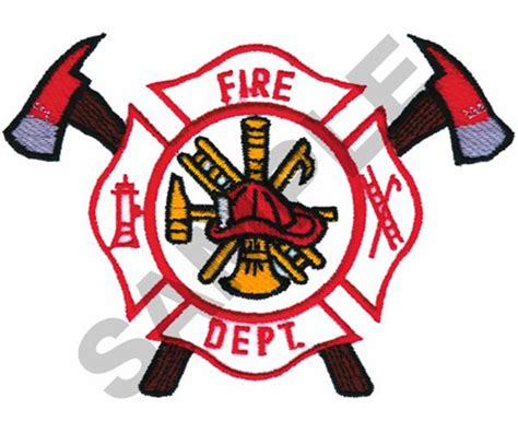 design a fire department logo equipment embroidery design fire department logo from