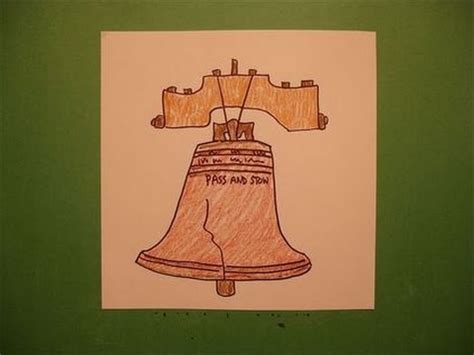how to draw liberty bell let s draw the liberty bell youtube