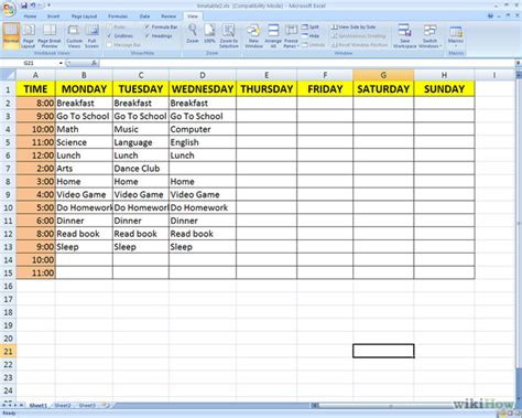 make a schedule template how to make a timetable 4 steps with pictures wikihow