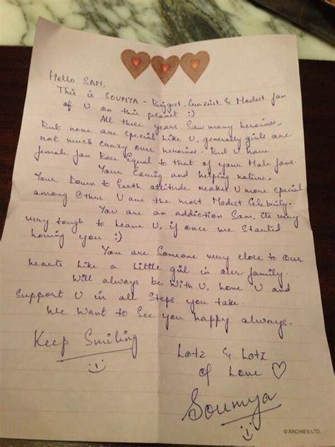 film love letter samatha got love letter from lady fan samatha got love
