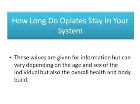 Does Detox Take Out Of Your System by How Opiates Stay In Your System Detox Near Me