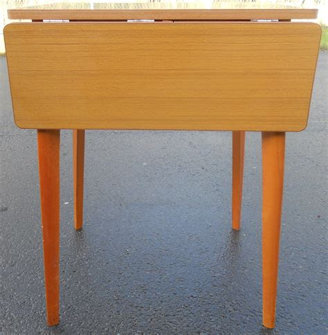retro teak dropleaf kitchen table