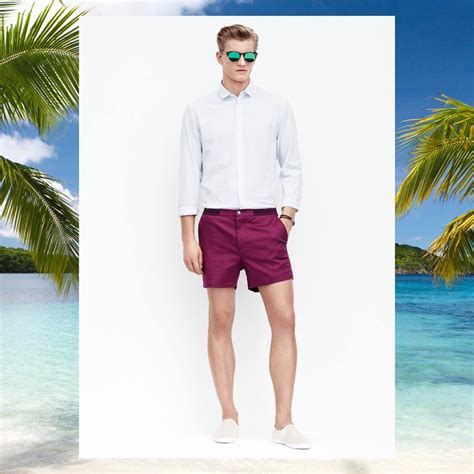 mens preppy summer fashion 2015 summer style at h m shorts tropical prints sandals