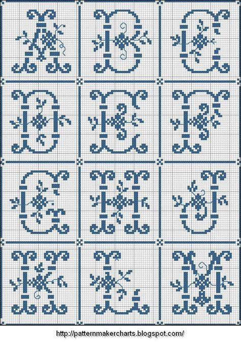 pattern maker en español gratis mejores 79 im 225 genes de abecedarios punto de cruz en